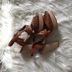 Dolce Vita Cognac Platform Sandals